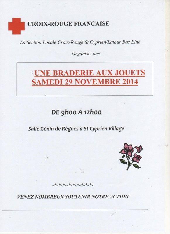 Braderie Croix-Rouge à Saint-Cyprien